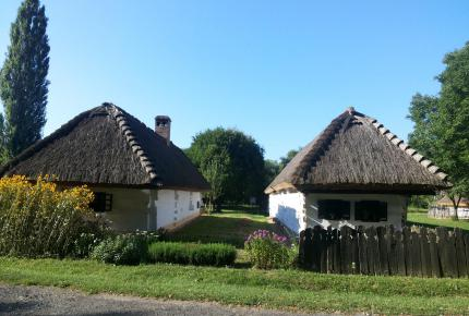 Zsúpfedésű házak