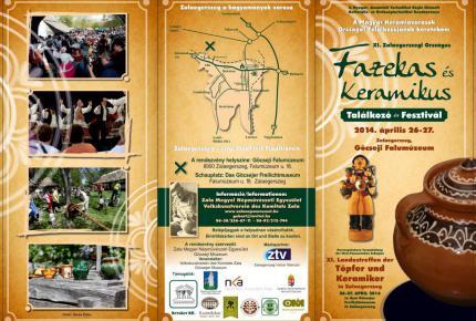 XI. Országos Fazekas és Keramikus Találkozó és fesztivál programfüzet első oldal