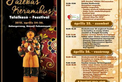 XII. Zalaegerszegi Fazekas-Keramikus Találkozó és Fesztivál programja